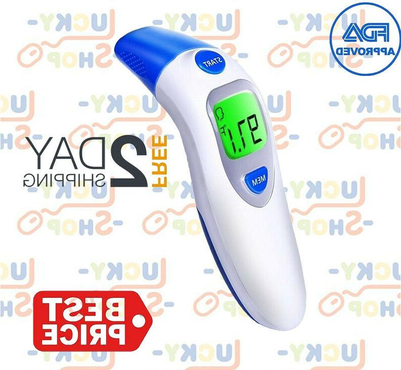 lcd digital thermometer infrared baby adult forehead