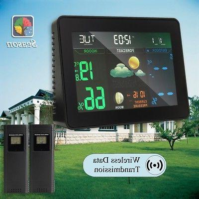 lcd wireless digital thermometer weather station hygrometer
