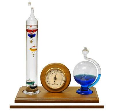 Analog Weather Station Galileo Thermometer New Hygrometer Fl