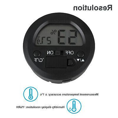 Lot Thermometer Indoor Digital LCD Temperature Humidity Meter C&F
