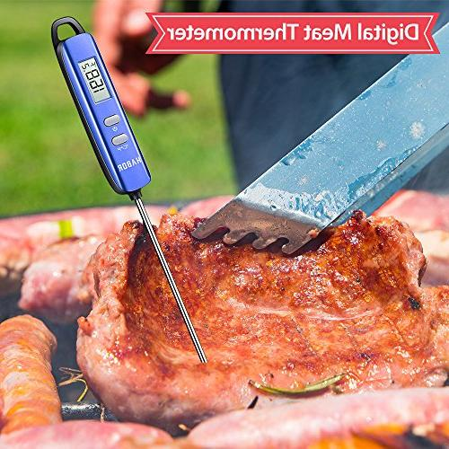 Meat Thermometer, Habor Read Candy Long Probe for Kitchen Cooking Meat Yogurt