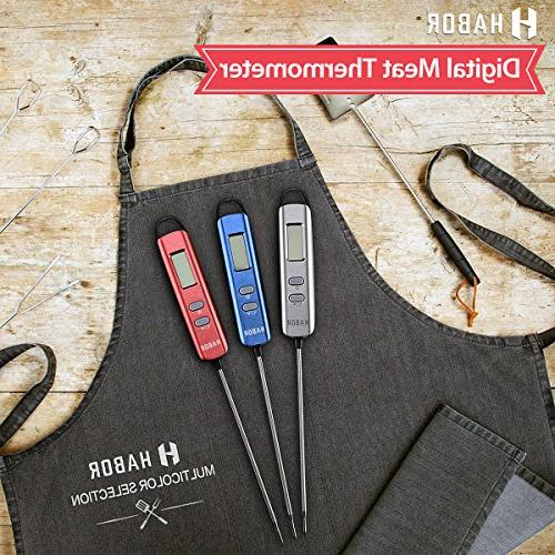 Meat Thermometer, Instant Read Thermometer Thermometer Candy Thermometer Super Long Probe for Kitchen Cooking BBQ Meat Fry Food Yogurt