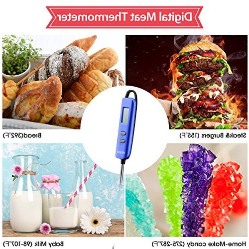 Meat Habor Read Long Probe for Kitchen Cooking BBQ Meat Fry Food Milk Yogurt