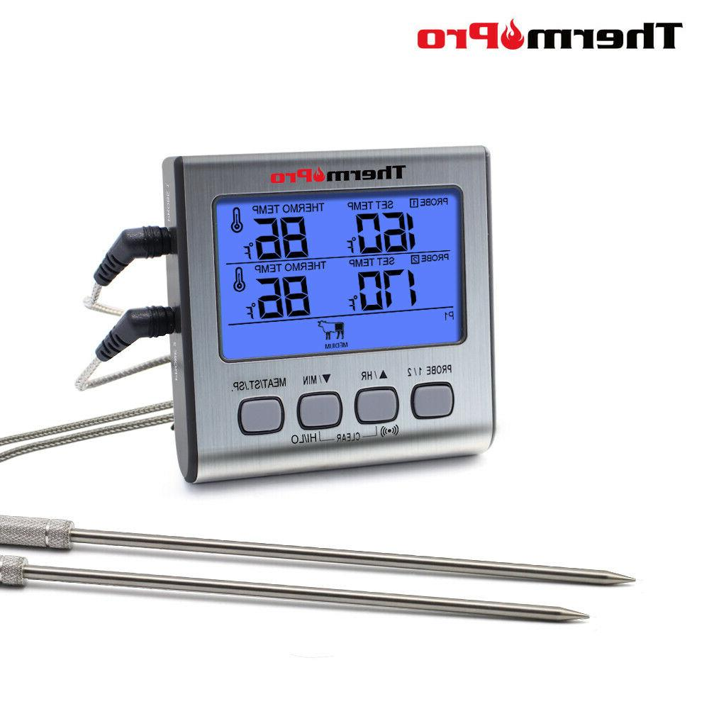 meat thermometer dual probe digital cooking grill