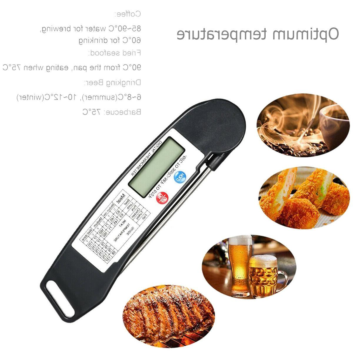 Meat Thermometer Digital Kitchen BBQ Baking Food