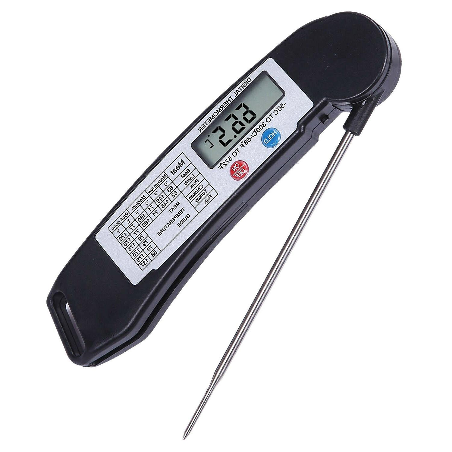 meat thermometer instant read digital kitchen grill