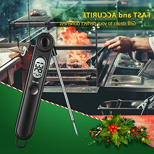 Habor Instant Meat Thermometer Thermometers Electronic with Kitchen Christmas Turkey Grill