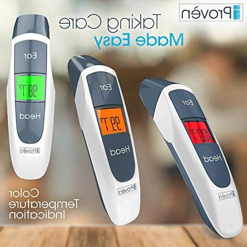 Best Thermometer with Temporal Forehead Function - Baby, Infant Upgraded Lens Accuracy New 2018 -