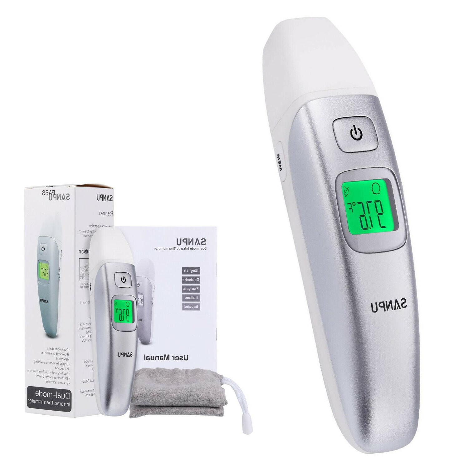 medical infrared forehead ear thermometer