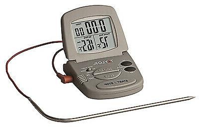 oven thermometer with meat probe and timer