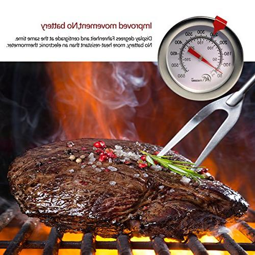"""KT THERMO Deep Thermometer Thermometer,12"""" Meat Cooking Thermometer,Best Turkey,BBQ,Grill"""