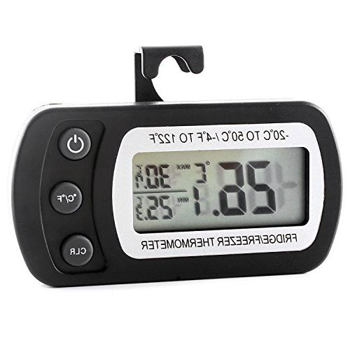 Refrigerator Thermometer Freezer Room Thermometer Waterproof, Max/Min Large