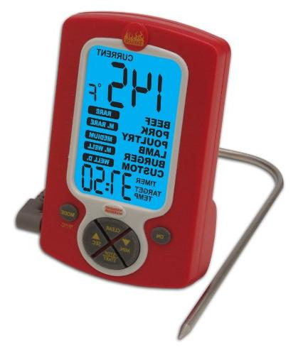 remote probe cooking thermometer timer