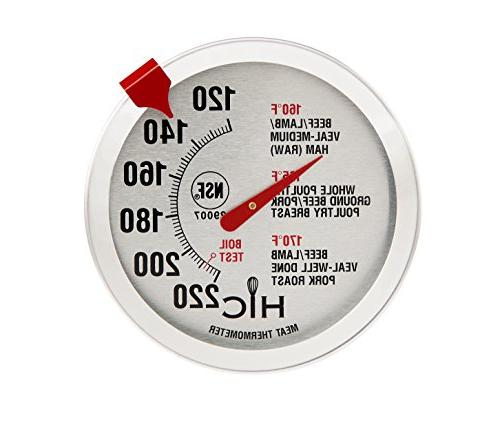 Roasting Meat Poultry Ham Turkey Grill Thermometer, Oven Saf