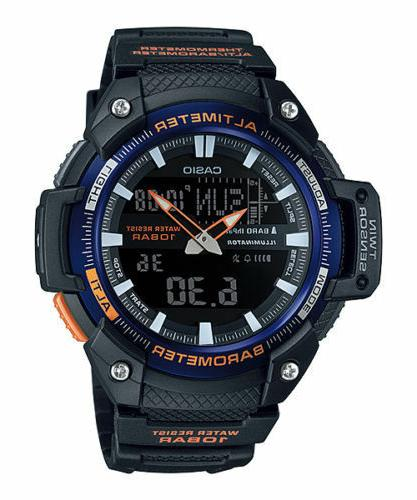 Casio Altimeter, Thermometer, Watch, Alarms, World Time