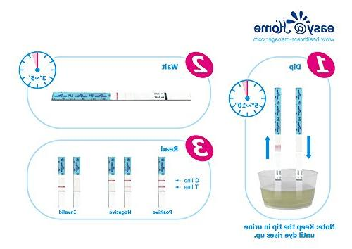 Easy@Home with Bonus LH Ovulation Test Strips, and Period Backlit, Charting, Prediction