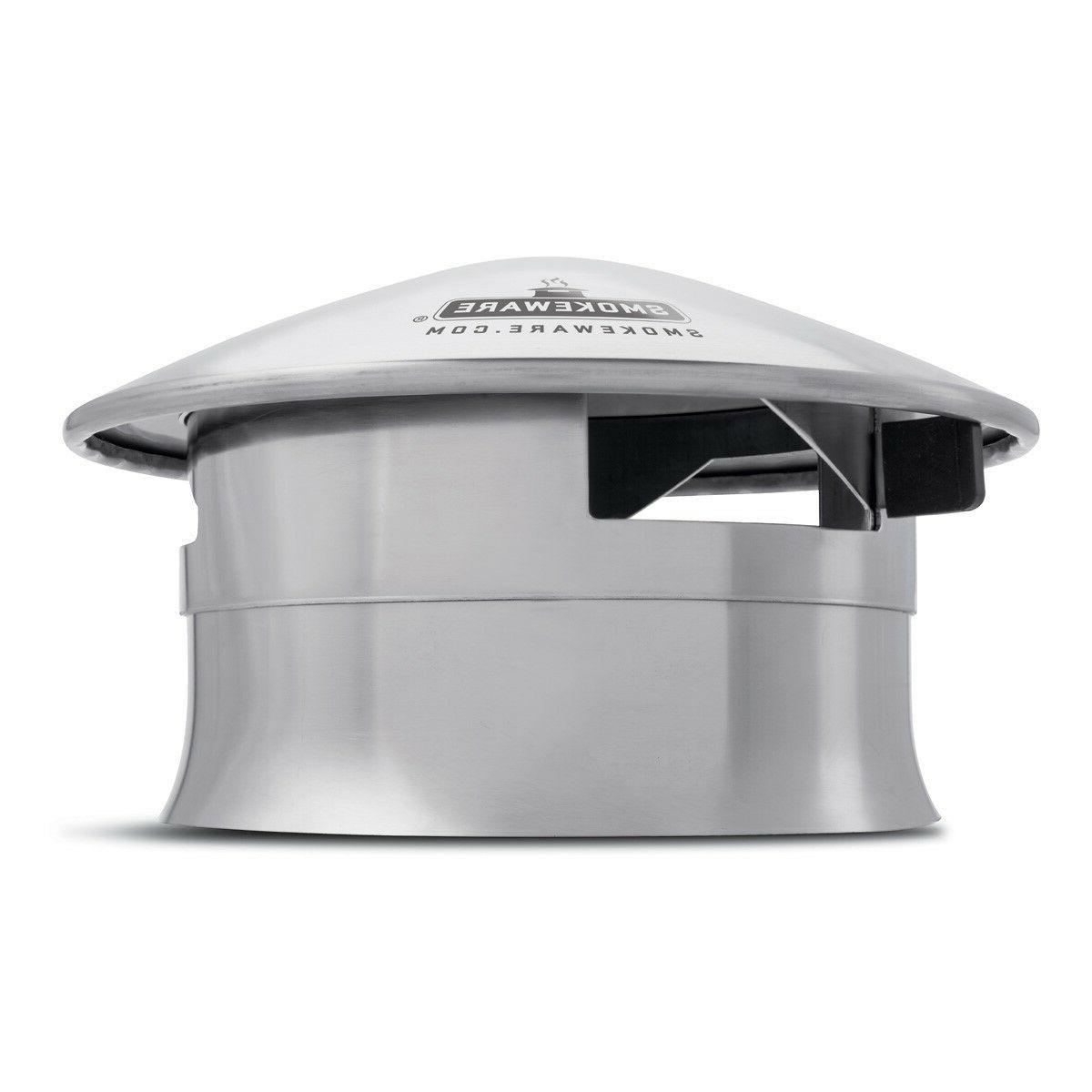 SmokeWare SS Vented Chimney Cap for Big Green Egg