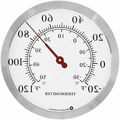 stainless steel wall thermometer