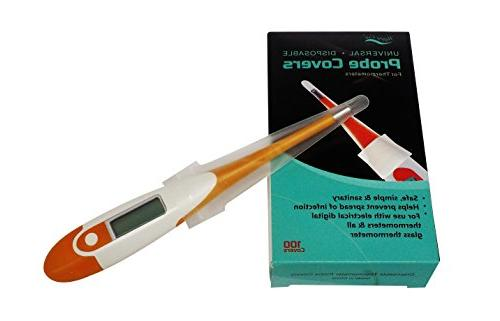 Sterile Safe Probe Covers Sanitary, Electronic Cover, Hospital-Grade Thermometers Sleeve, Prevent
