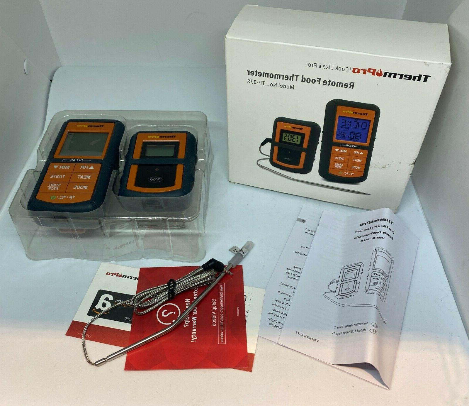 therm pro remote food thermometer model tp