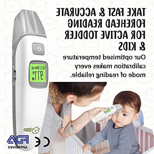 Baby - Forehead and Thermometer Fever - Accurate Mode Clinical Fever for and Adult | Approved