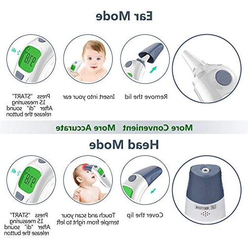 Hobest Baby Ear Accurate Thermometer Alarm Function Children Adults-CE Approved