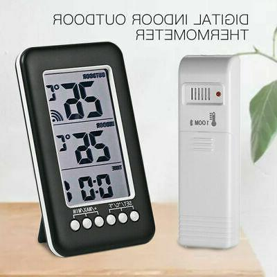 Thermometer Clock Temperature Meter Wireless & Transmitter I