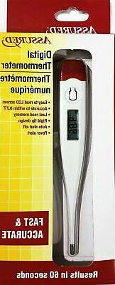 Assured Digital Thermometer Fast Accurate Results in 60 Seco