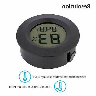 Thermometer Indoor LCD Hygrometer Display C&F