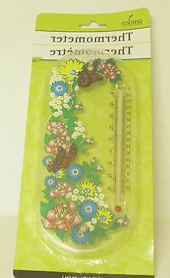 GARDEN COLLECTION THERMOMETER  INDOOR OR OUTDOOR USE SMALL S