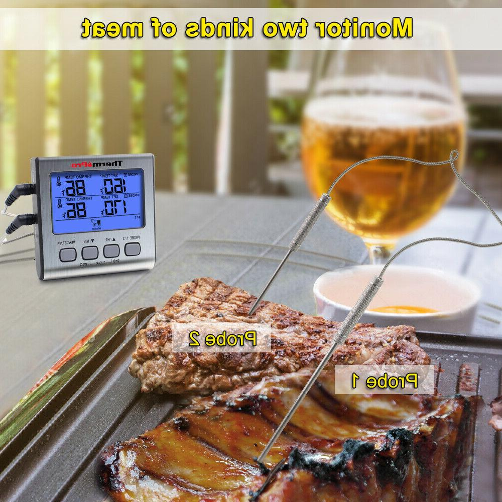 ThermoPro TP-17 Dual Digital Cooking Meat Thermometer Large Backlight