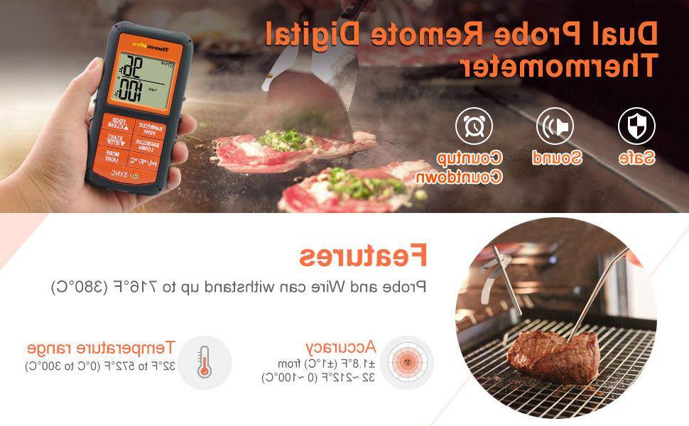 ThermoPro TP08 Digital Cooking Thermometer - Dual
