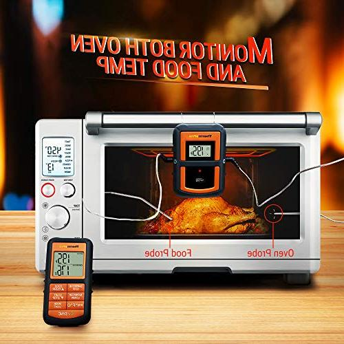 ThermoPro TP-08S Wireless Digital Cooking Meat Thermometer Dual Probe Smoker Thermometer - Monitors Food from 300 Feet