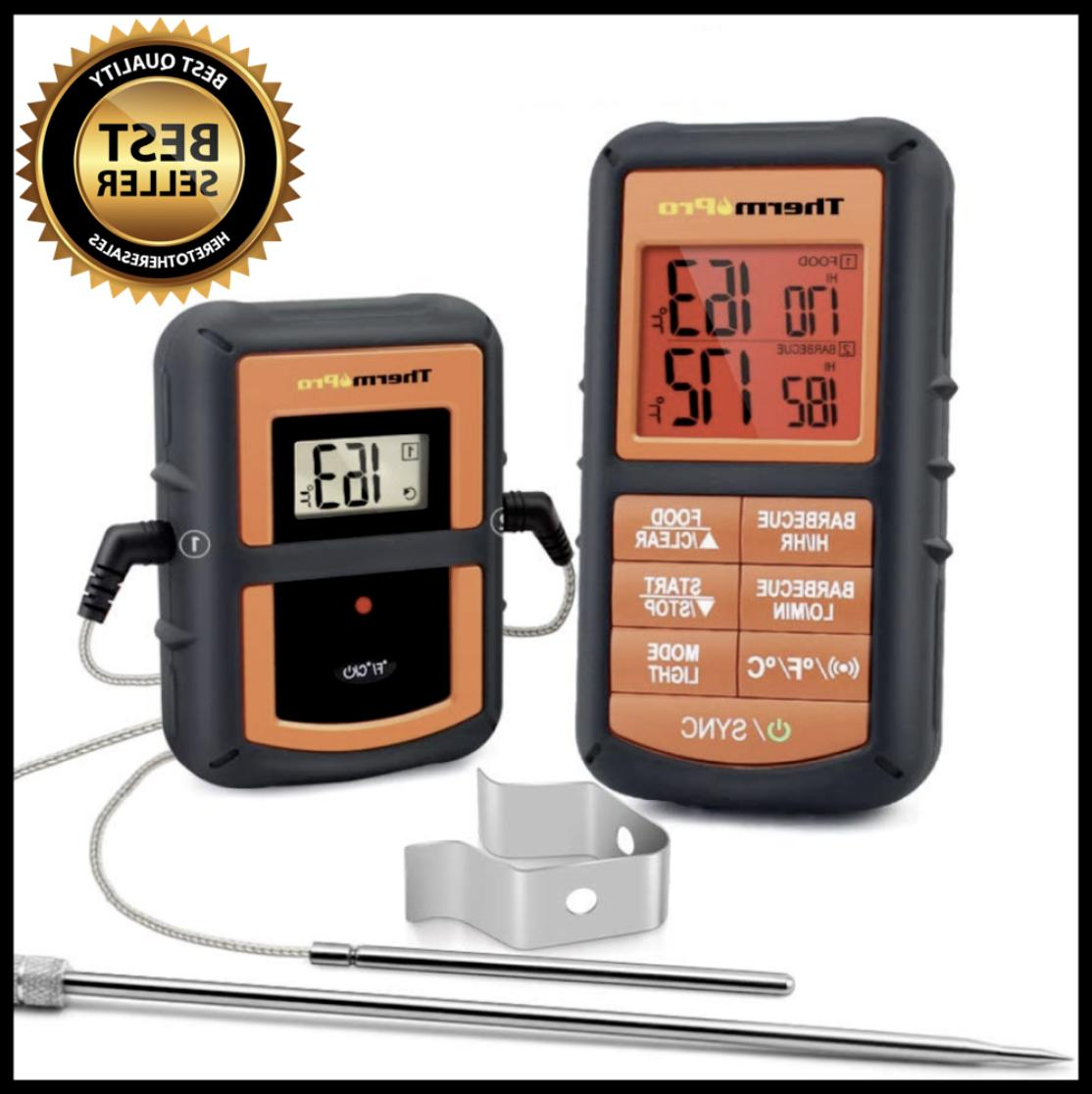 tp08s wireless digital meat thermometer w dual