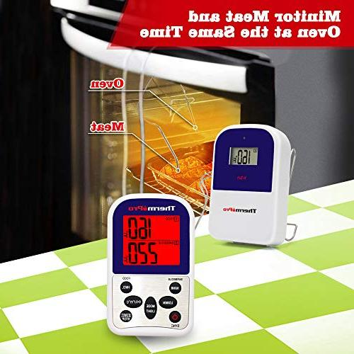 ThermoPro Meat Thermometer for Oven BBQ Thermometer 300 Feet Range