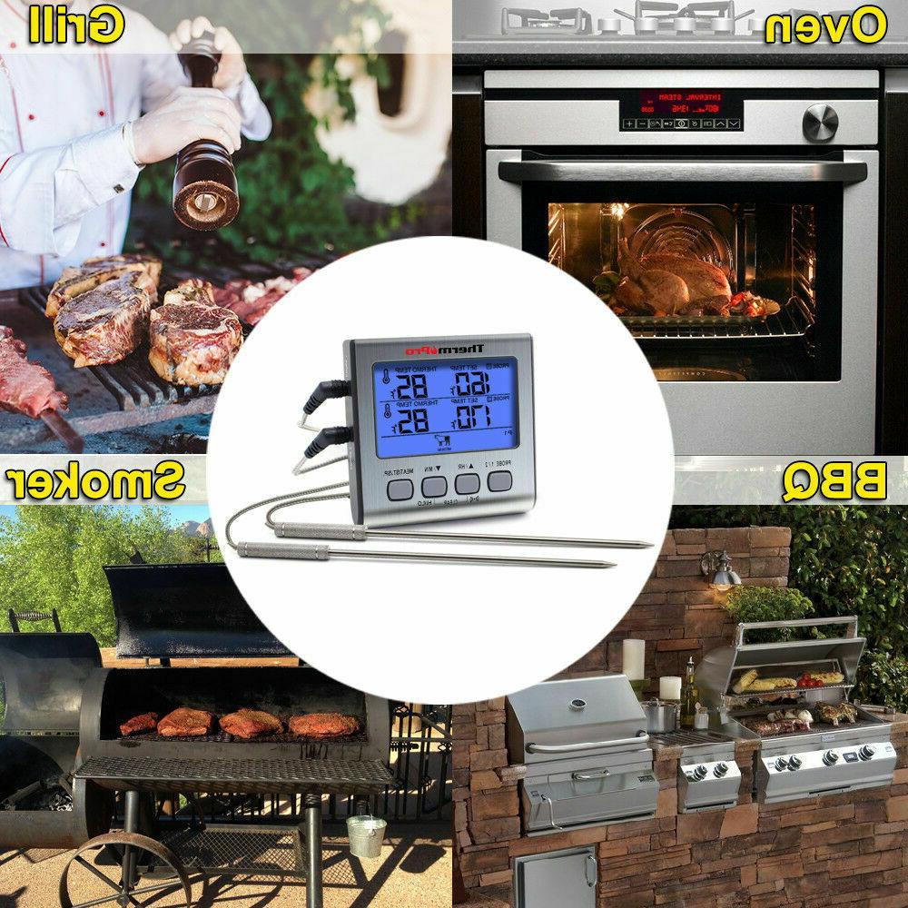 ThermoPro TP17 LCD Meat Thermometer Smoker Thermometer