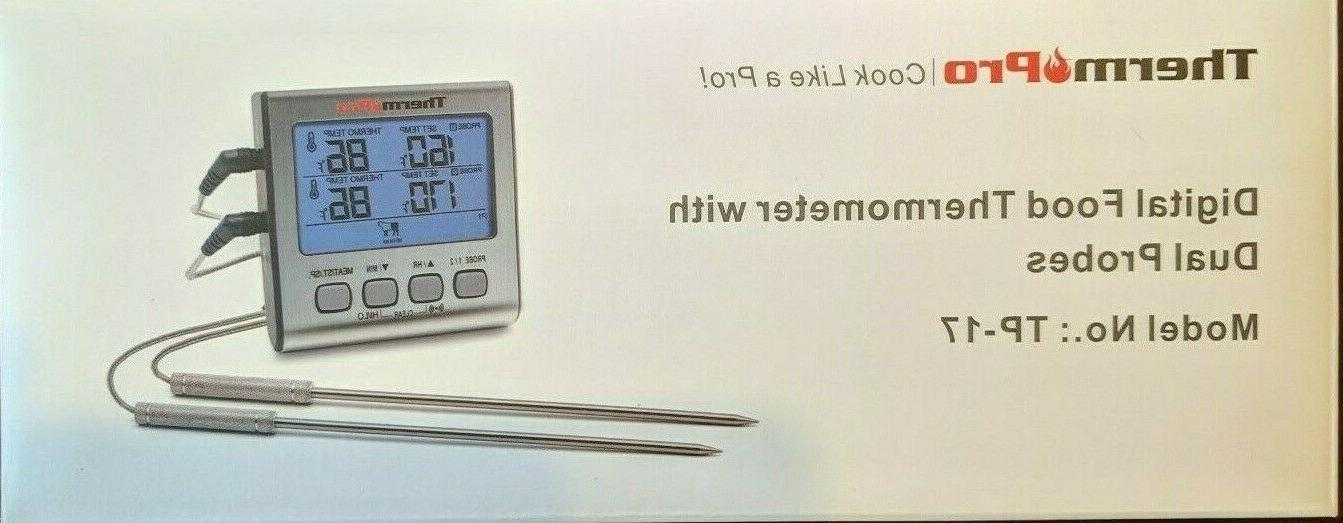 tp17 digital lcd meat thermometer cooking grill