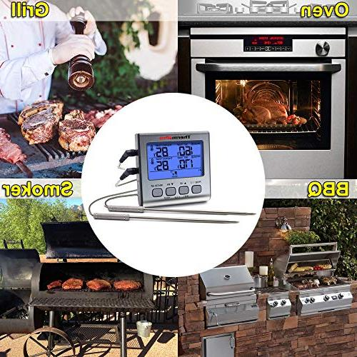 Digital Cooking Large LCD Grill Timer Mode for Oven BBQ