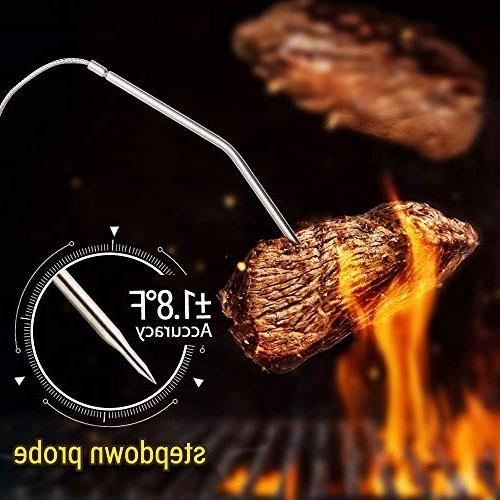 ThermoPro Wireless Digital Cooking Food Thermometer with Dual for Smoker Thermometer