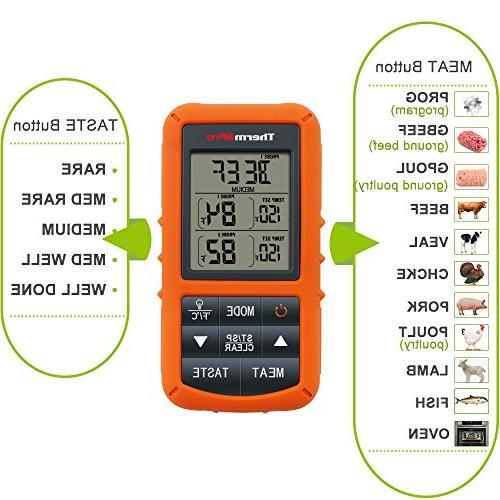 ThermoPro TP20 Wireless Digital Cooking Meat for Smoker Thermometer