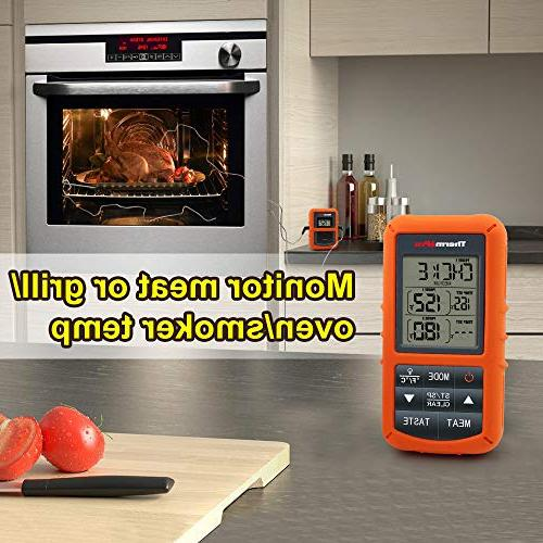 ThermoPro TP20 Remote Digital Thermometer with for Smoker Thermometer