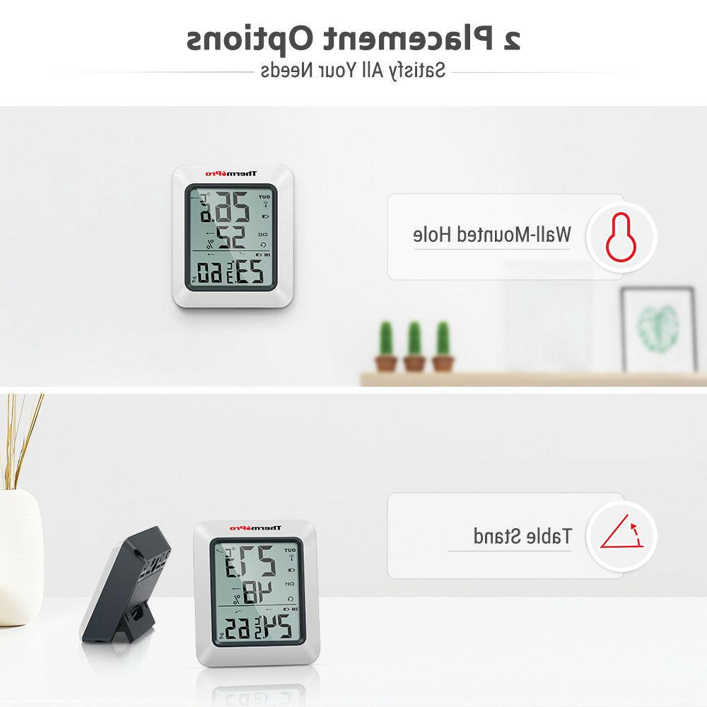 ThermoPro Digital Indoor Thermometer Hygrometer Wireless Humidity Meter