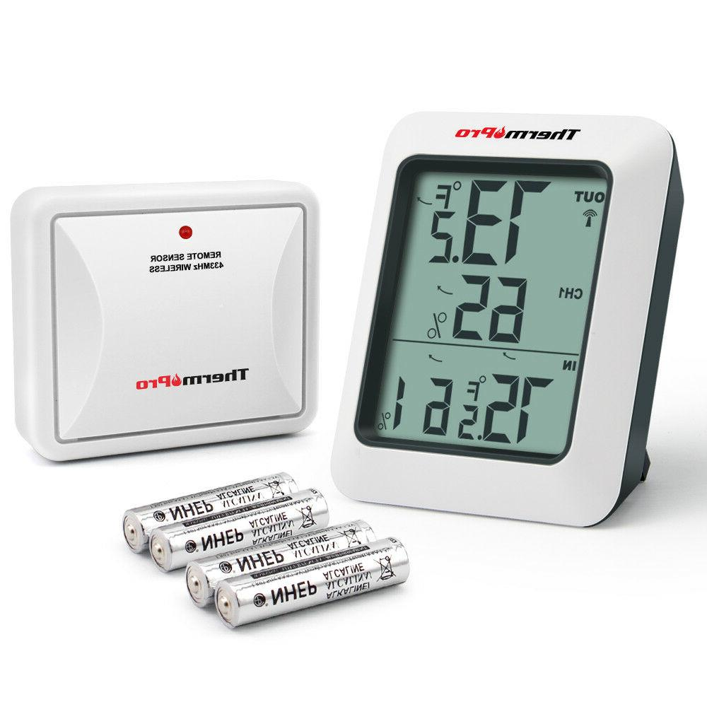 ThermoPro TP-60S Indoor Outdoor Digital Hygrometer Thermomet