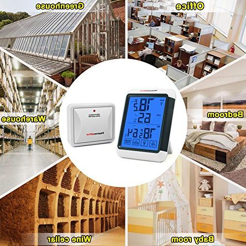 ThermoPro Wireless Monitor with Jumbo and Backlight Humidity Gauge, 200ft/60m Range