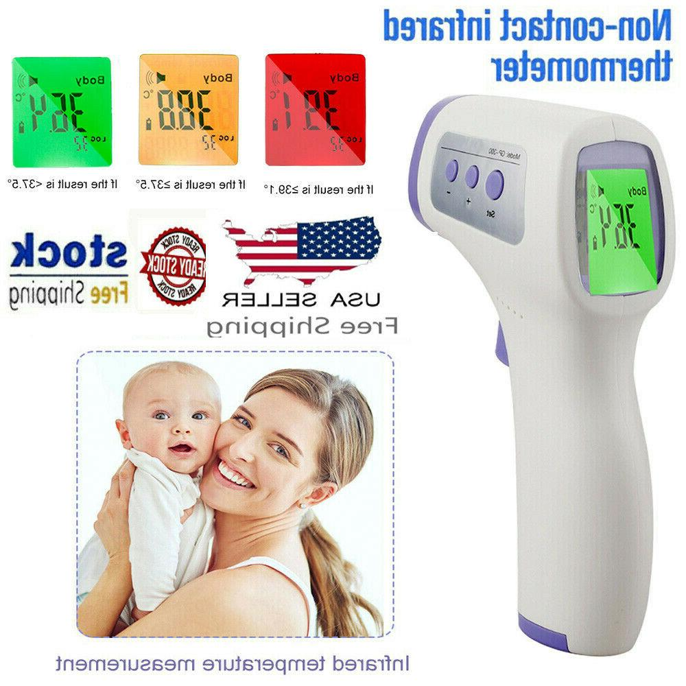 un contact body thermometer forehead ir infrared