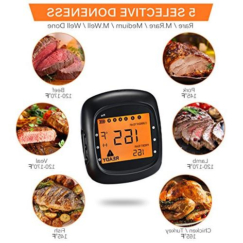 Habor Wireless Digital Cooking Larger Alarm Monitor for Kitchen Grill Smoker and iOS Bluetooth