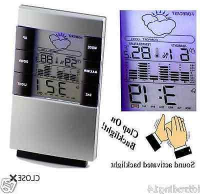 Weather Forecast Clock LCD Display Temperature Thermometer H