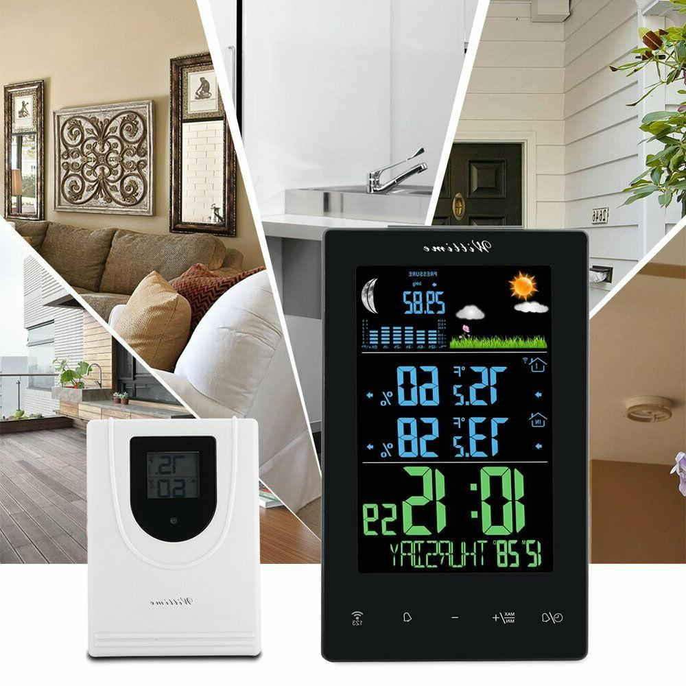 Wittime Weather Outdoor Thermometer Wireless, Clock,