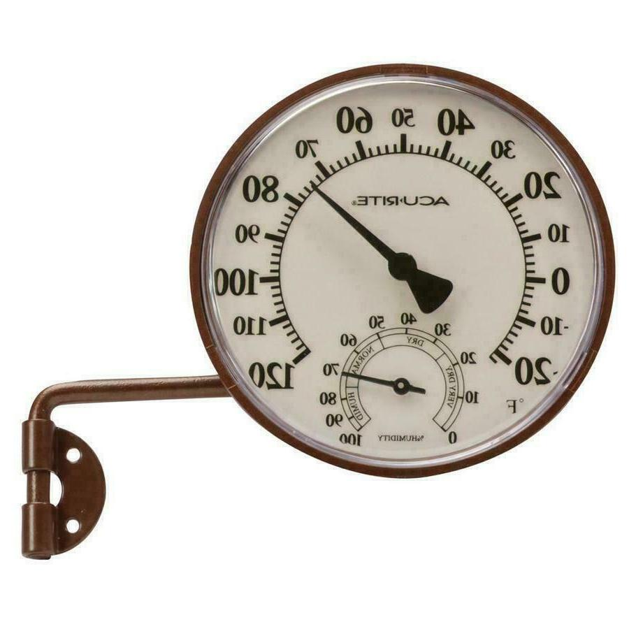 AcuRite Wireless Indoor Outdoor Thermometer Brass Swing Arm