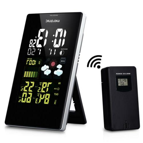 wireless lcd weather station hygrometer thermometer moon
